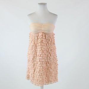 Light pink J. CREW strapless dress XS